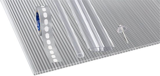 GUTTA Doppelstegplatte »GUTTGLISS«, 10 mm, (Set)