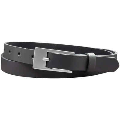 COLOGNEBELT Ledergürtel »A4-SL« 2 cm breiter Gürtel echt Leder in Grau mit stilvoller Gürtelschließe, leger und modern