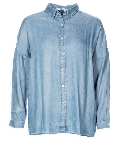 Replay Hemdbluse »REPLAY Bluse klassisches Hemd Damen Shirt Business Arbeitshemd Blau«