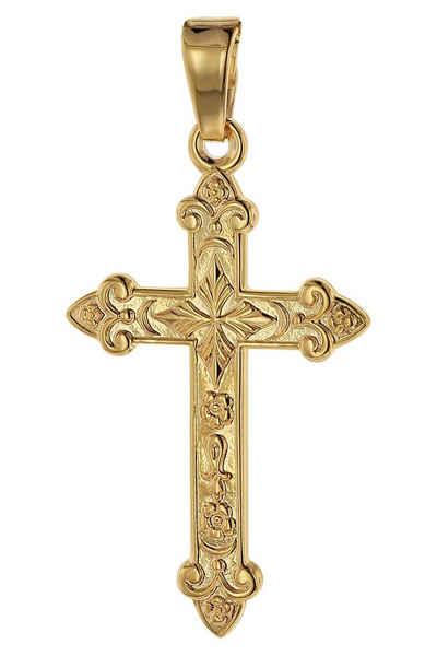 trendor Kreuzanhänger »Kreuz- Gold 750 (18 Karat) 32 x 16 mm«