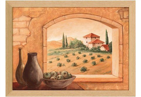 Kunstdruck, Home affaire, »Andres: Toscana«, 75/55 cm in creme