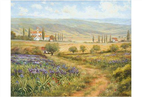 Kunstdruck, Home affaire, »Heins, A.: Landschaft in der Provence I«, 29/23 cm in grün