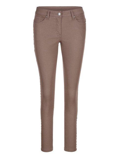 Hosen - Amy Vermont Jeans mit Nieten › braun  - Onlineshop OTTO