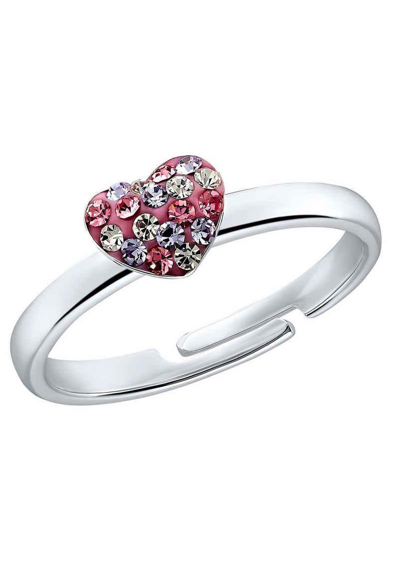 Prinzessin Lillifee Silberring »Herz 2031168«, mit Preciosa Crystal