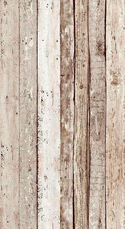living walls Bordüre »pop.up Panel«, glatt, Holz, Holzplanken in Vintage-Optik, selbstklebend