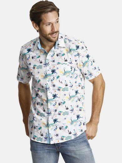 Schlussverkauf SHIRTMASTER Kurzarmhemd »summerinflorida« mit zweifarbigen Knöpfen