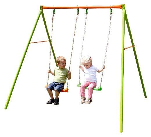 Empfehlung: Metall Doppelschaukel für zwei Kinder  von YARDMASTER*