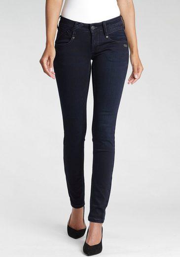 GANG Skinny-fit-Jeans »Nena« mit gekreuzten Gürtelschlaufen links vorne