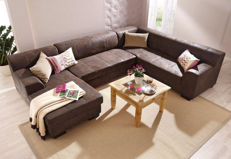 couch u form braun. Black Bedroom Furniture Sets. Home Design Ideas