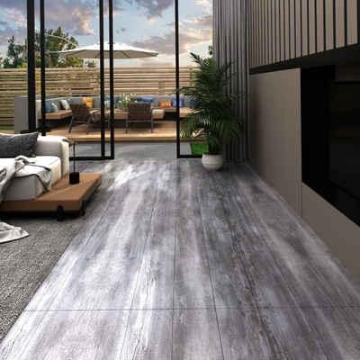 vidaXL Fußboden »vidaXL PVC-Laminat-Dielen 5,02 m² 2mm Selbstklebend Mattgrau Holzoptik«