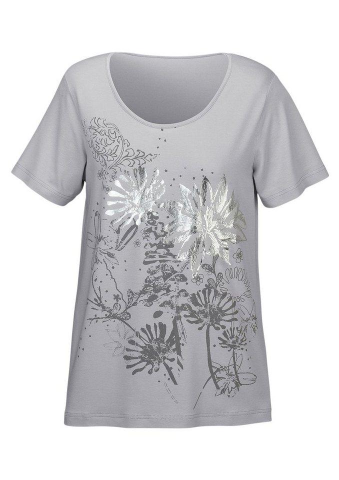 Lady Shirt in grau-bedruckt