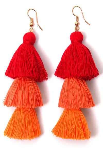 OrangeKreatives Design Orange Acryl Damen Ohrringe