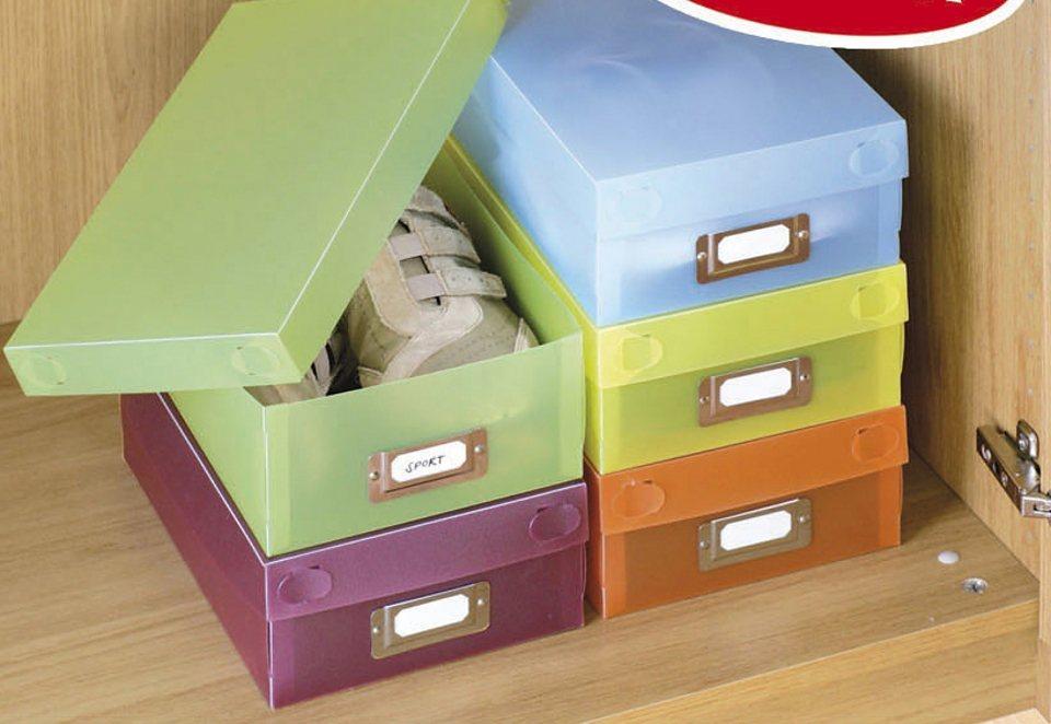 Schuhboxen (5 Stck.) in bunt