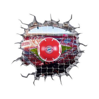 FC Bayern 3D-Wandtattoo, LED-Lampe in Ballform & 3D-Wandtattoo