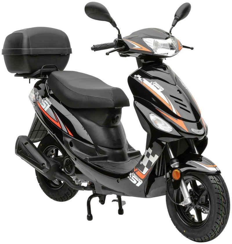Nova Motors Motorroller »Energy«, 49 ccm, 45 km/h, Euro 5, (mit Topcase)