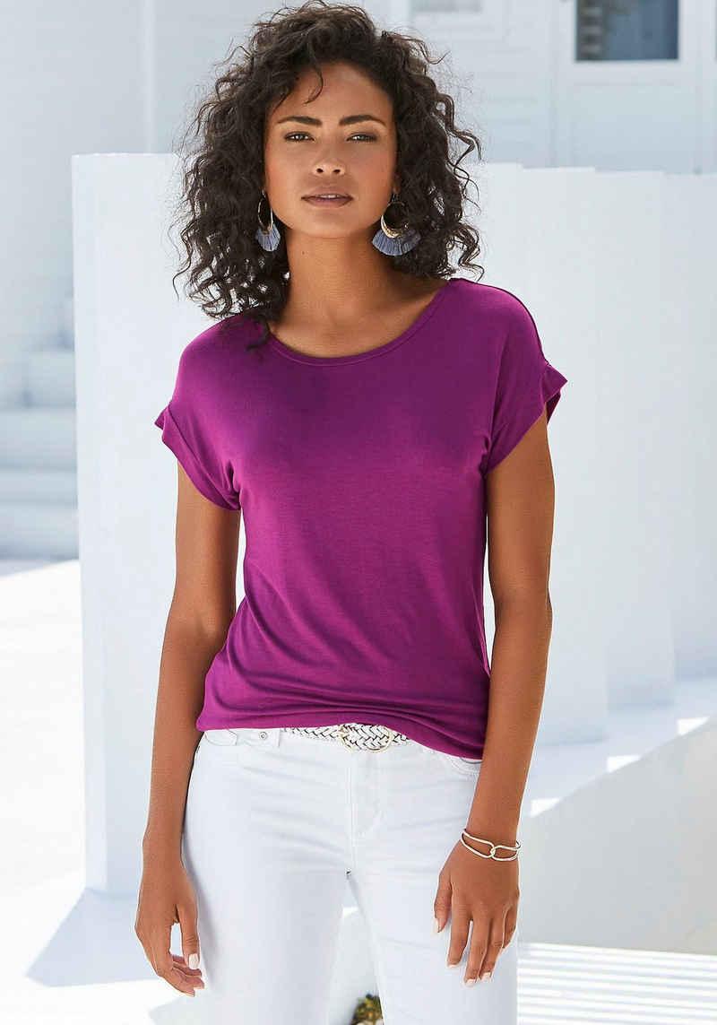 Vivance T-Shirt mit elastischem Saumabschluss