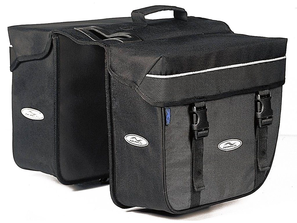 Norco Gepäckträgertasche »Orlando Twin-Box schwarz/grau«