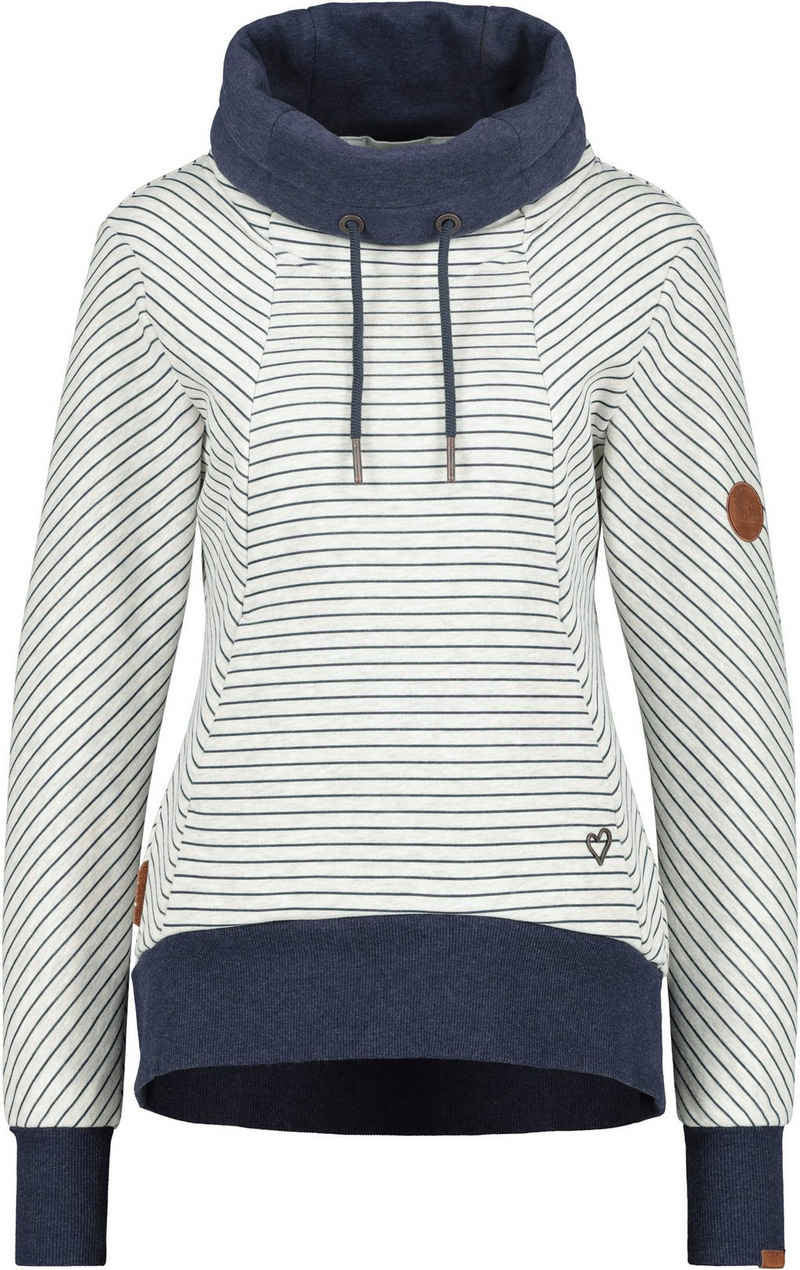Alife & Kickin Sweatshirt »SueAK« sportiver Sweater mit hohem Stehkragen & Kordel
