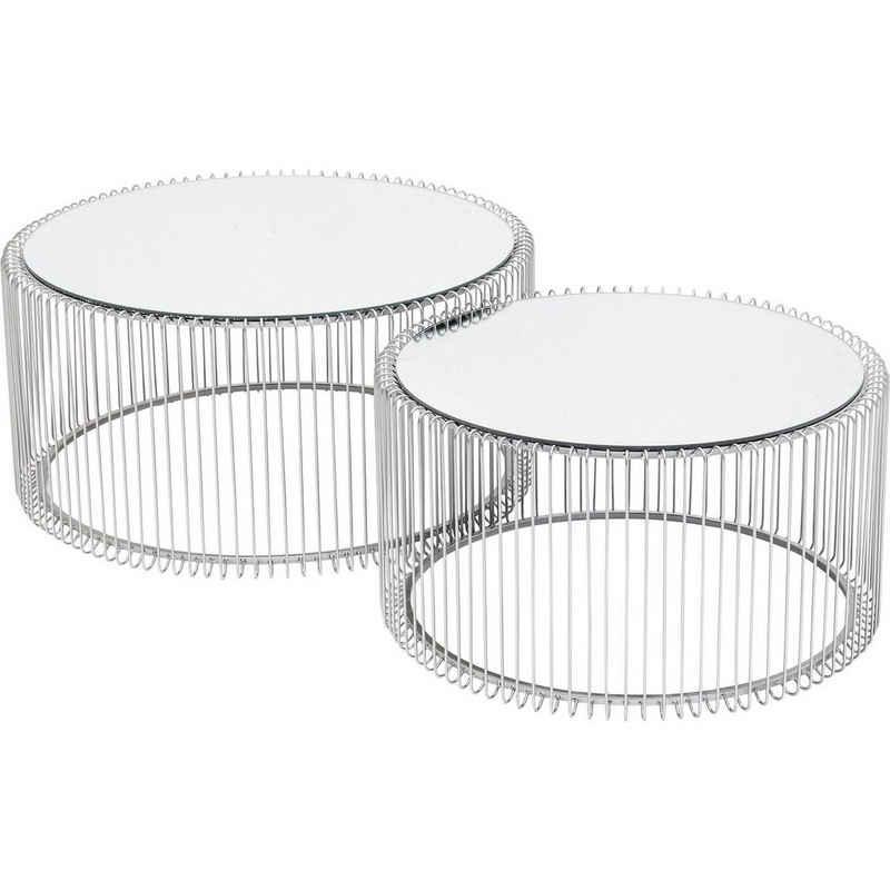 KARE Beistelltisch »Couchtisch Wire Silber 2Set«