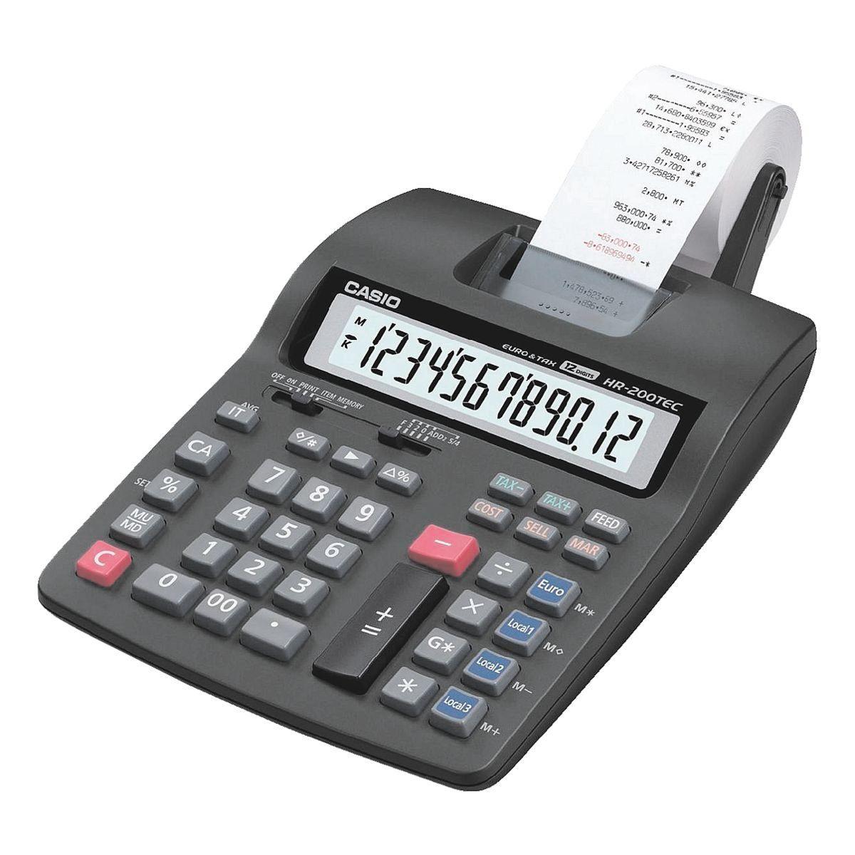 CASIO Druckender Tischrechner »HR-200TEC«