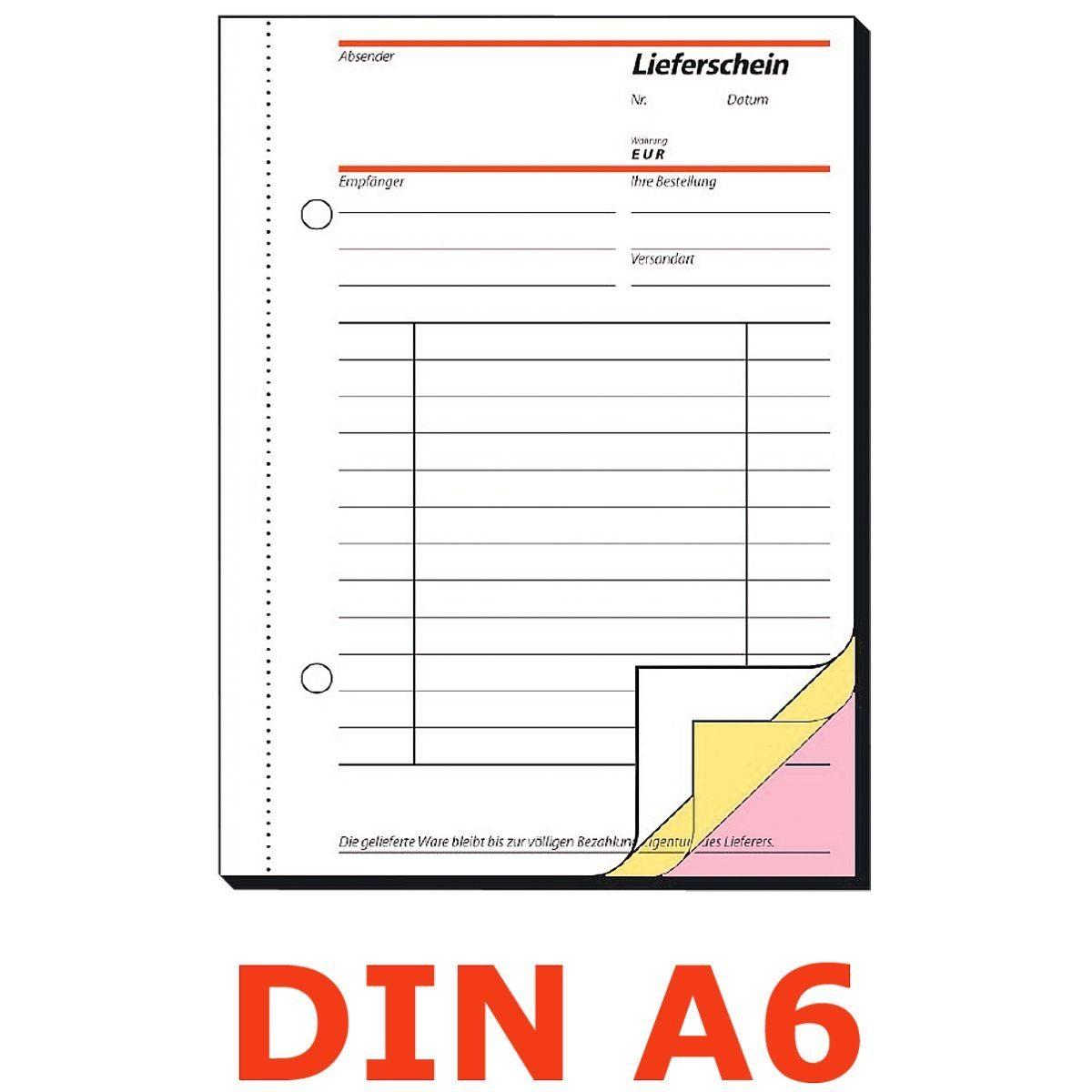 Sigel Formularbuch SD014 »Lieferschein mit Empfangsschein«