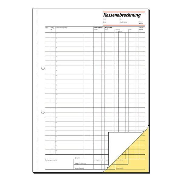 Sigel Formularbuch »Kassenabrechnung«