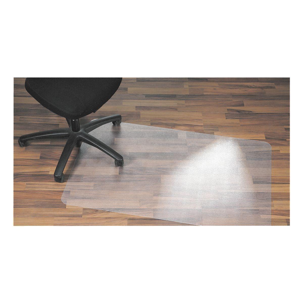 Floortex Bodenschutzmatte 120x75 cm rechteckig für Hartboden