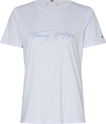 TOMMY HILFIGER Rundhalsshirt »BOBO REGULAR C-NK TOP SS« mit Tommy Hilfiger Signature Logo-Schrifzug