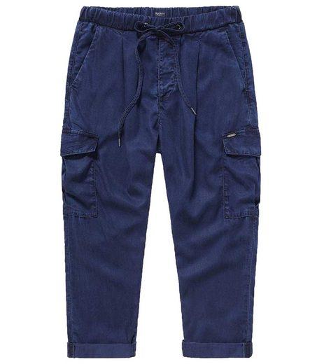 Pepe Jeans Schlupfhose »Pepe Jeans Jynx Blue Schlupf-Hose stylische Damen Jog-Hose mit Cargotaschen Sport-Hose Blau«