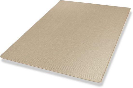 Sisalteppich »Mara S2, gekettelt, Wunschmaß«, Dekowe, rechteckig, Höhe 5 mm, Obermaterial: 100% Sisal, Wohnzimmer
