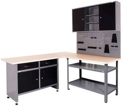 ONDIS24 Werkstatt-Set, (Set, 4-tlg), großes Eck-Set