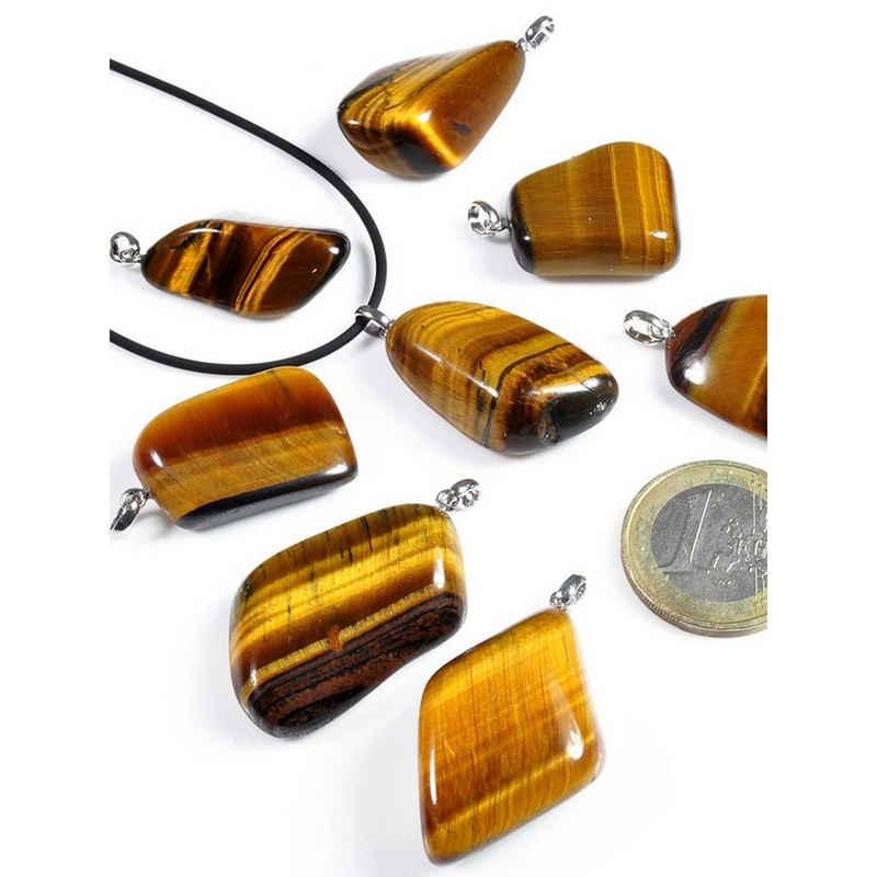 Adelia´s Kettenanhänger »Tigerauge Anhänger 925 Silber«