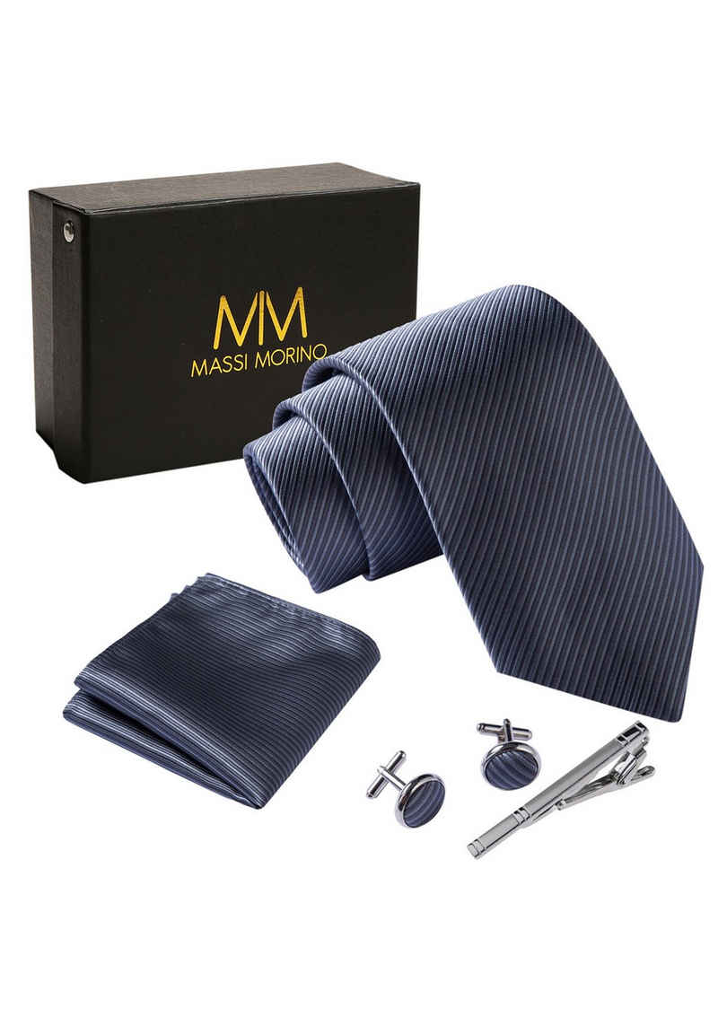Massi Morino Krawatte »Krawattenbox Set« Premium Qualität