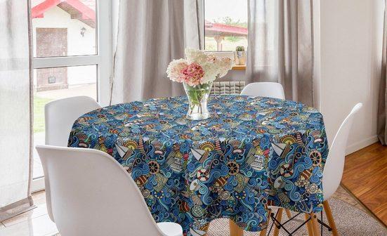 Abakuhaus Tischdecke »Kreis Tischdecke Abdeckung für Esszimmer Küche Dekoration«, Bunt Abstrakt Sea Shells
