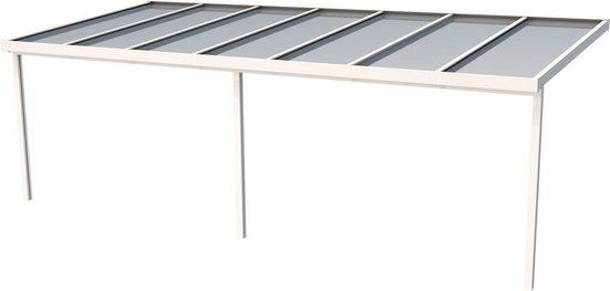 GUTTA Terrassendach »Premium«, BxT: 712x306 cm, Dach Polycarbonat gestreift weiß