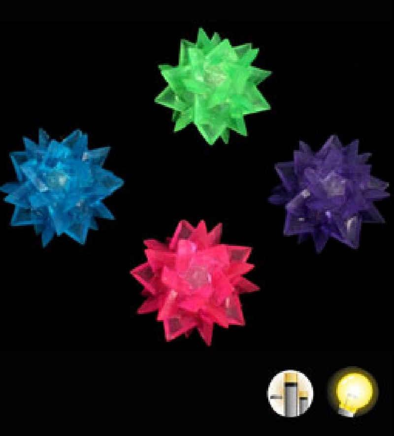 JOKA international Spielball »Leuchtball Meteorit 6er Set Ø ca. 6 cm -Geschenkidee, Mitgebsel«