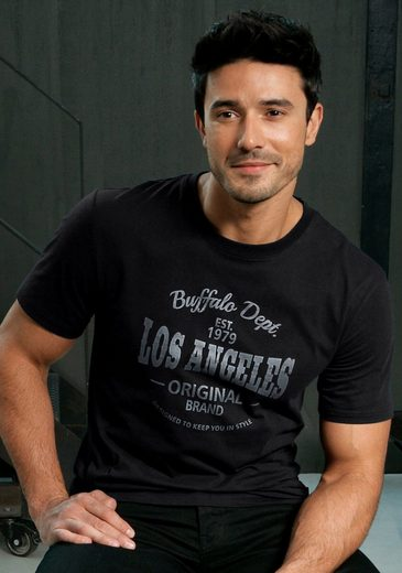 Buffalo T-Shirt mit Los Angeles Print vorn