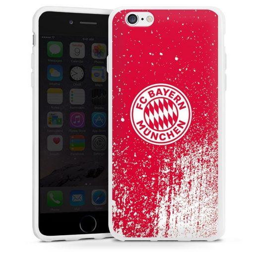 DeinDesign Handyhülle »Splatter Rot - FCB« Apple iPhone 6, Hülle FC Bayern München Offizielles Lizenzprodukt FCB