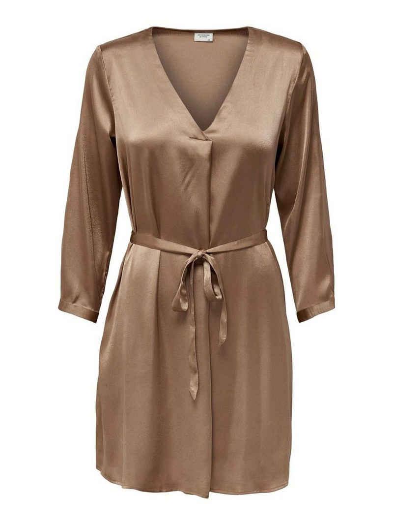 JACQUELINE de YONG Shirtkleid »3770« JDY Damen Kurzes Kleid 7/8 Arm mit Taillengürtel Legerer Seiden Look JDYFIFI