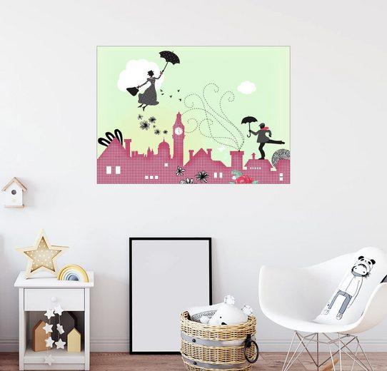 Posterlounge Wandbild, Premium-Poster Mary Poppins London
