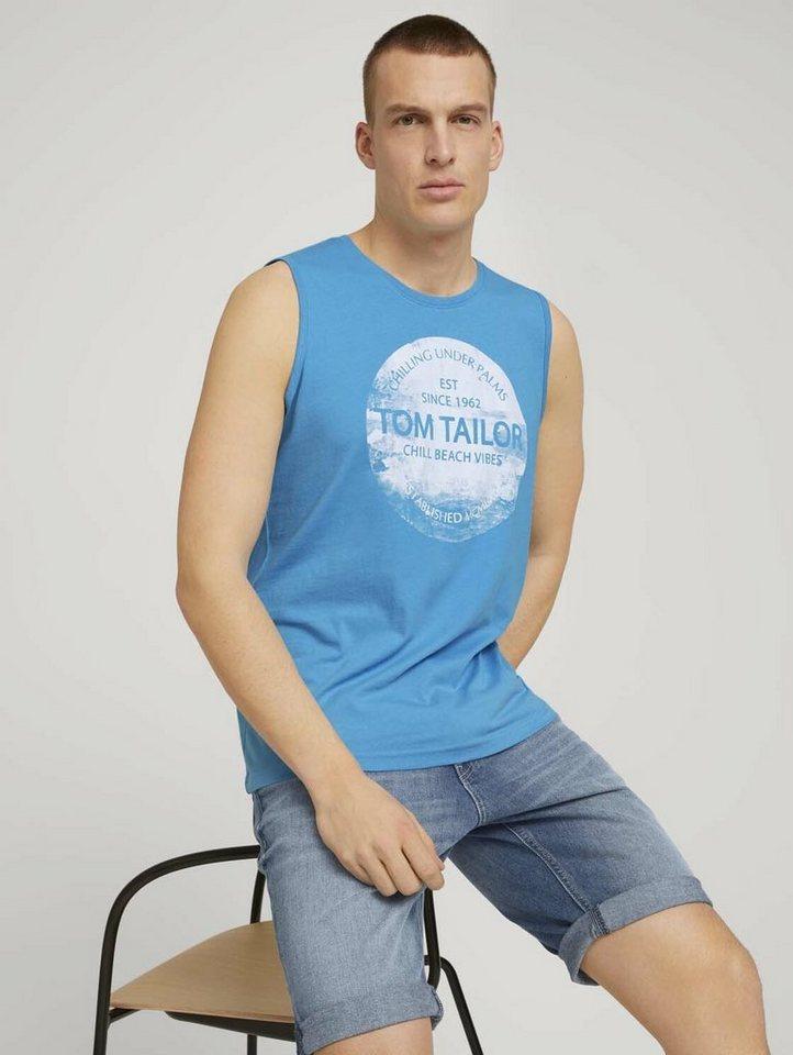 tom tailor -  Kurzarmshirt »Tanktop mit Bio-Baumwolle«