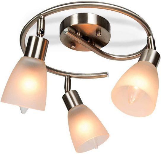 COSTWAY Deckenleuchte »Deckenleuchte Vintage mit halboffenen Glasschirmen 3 Flamming Glas&E27-Fassung«