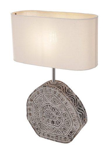 Guru-Shop Tischleuchte »Tischlampe, in Bali handgemacht im Timor Style..«