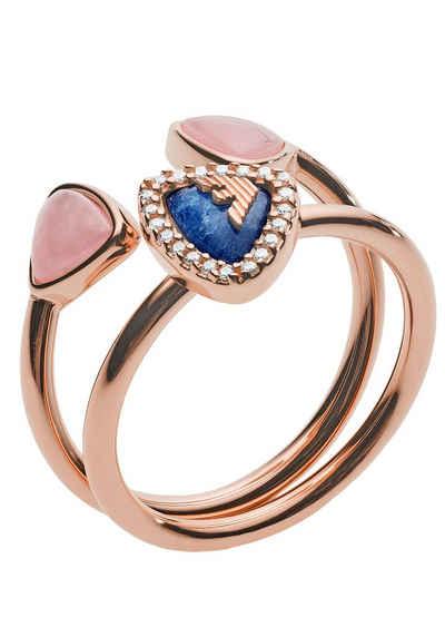 Emporio Armani Ring-Set »FASHION, EG3446221« (Set, 2-tlg)