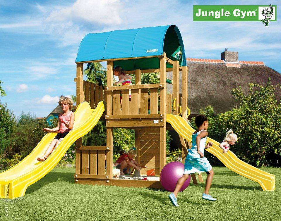 jungle gym spielturm farm rutsche gelb kaufen otto. Black Bedroom Furniture Sets. Home Design Ideas