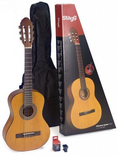 Stagg Konzertgitarre »3/4 Gitarren Set - Natur« 3/4, mit Tasche und Stimmgerät