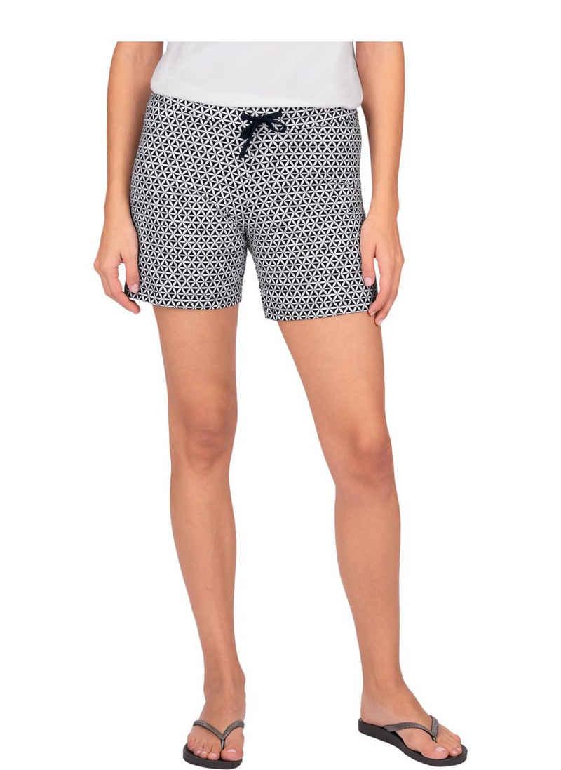 Trigema Shorts mit angesagtem Retro-Muster