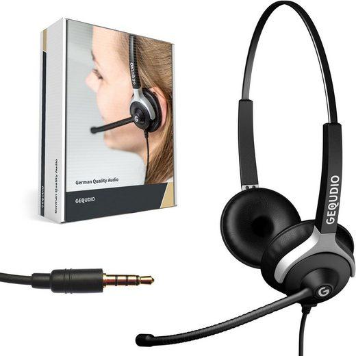 GEQUDIO Headset (Headset 2-Ohr mit 3,5mm Klinke)