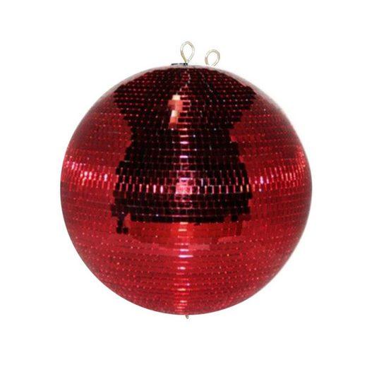 SATISFIRE Discolicht »Spiegelkugel 30cm - rot - Safety - Diskokugel Echtglas - 10x10mm Spiegel PROFI«