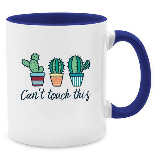 Shirtracer Tasse »Can't touch this - Tasse mit Spruch - Tasse zweifarbig - Tassen«, tasse schwarz mit spruch